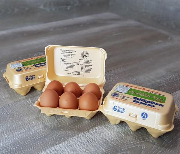 6 Eier vom Geflügelhof Strahwalde
