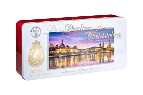 Dresdner Christstollen® | 1000g Dose Altstadtblick
