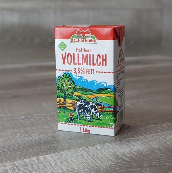 Sachsenland Haltbare Vollmilch 3,5 % Fett, 1 l