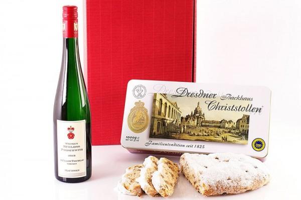Spezialitätenkarton mit Schloss Proschwitz Elbling