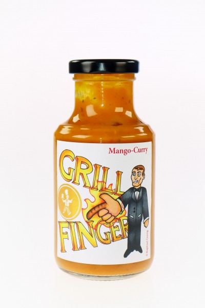 """Mango-Curry-Sauce """"Grill-Finger"""" 